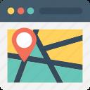 navigation, online map, web, web navigation, web ui icon