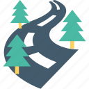 path, route, road, thoroughfare, highway icon