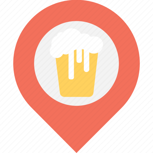 gps, location, navigation, painter location, pointer, sand bucket icon