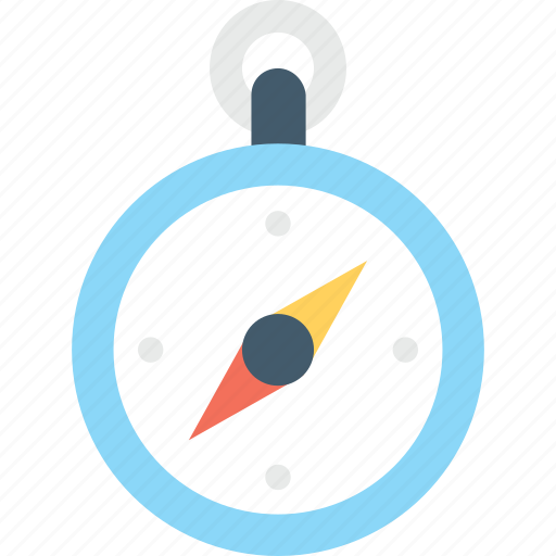 compass, gps, navigational, points, stopwatch icon