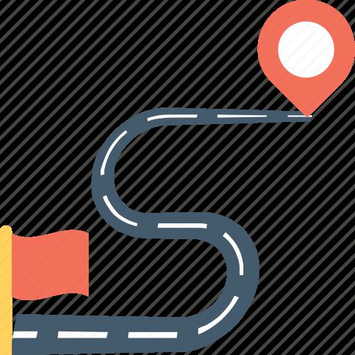 destination, gps, location pins, location pointers, travel distance icon