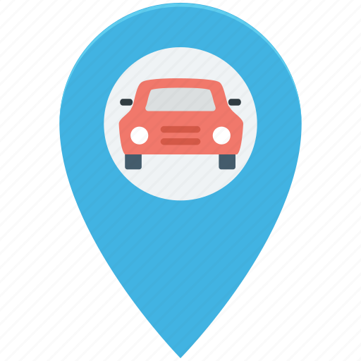 car, drive, highway, map, navigation icon