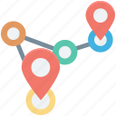 distance, gps, location, location finder, map, route icon