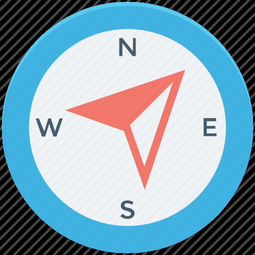 cardinal points, compass, directional tool, gps, navigational icon