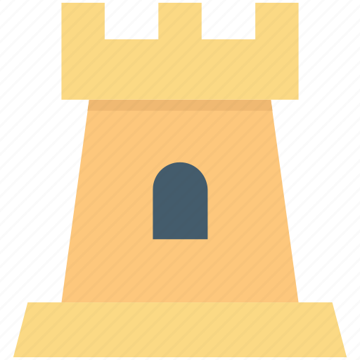 castle, castle tower, fortress, medieval, sand castle icon