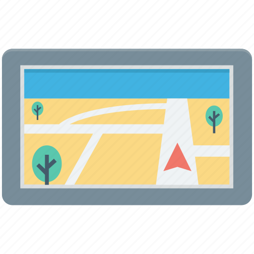 gps navigator, map, navigations, online gps, tablet icon