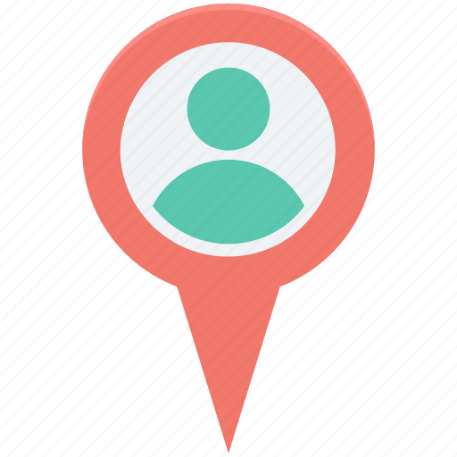 geolocalization, location pin, man location, map pin, user location icon