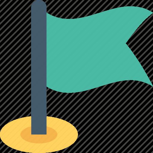 Destination flag, emblem, ensign, flag, location flag icon - Download on Iconfinder