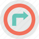 arrow, directional, right arrow, road, traffic icon