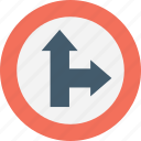 arrow junction, direction, left, post, signpost icon