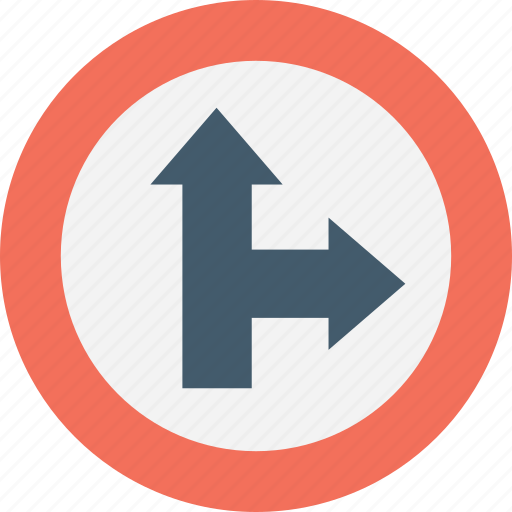 Arrow junction, direction, left, post, signpost icon - Download on Iconfinder