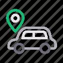 car, gps, location, navigation, vehicle icon