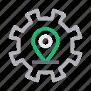 gps, location, marker, pin, setting