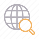 earth, global, magnifier, search, world