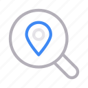 find, location, marker, pin, search