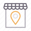 location, map, marker, shop, store
