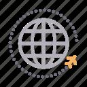 global, international, tour, travel, world icon