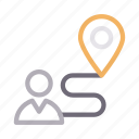 location, map, marker, route, user