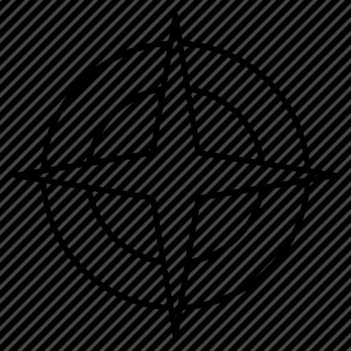 direction, navigation, north icon