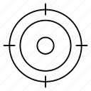 focus, map, target icon