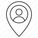 location, pointer, user icon