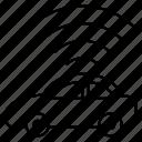 signal, vehicle, wireless icon