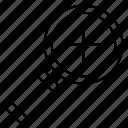magnifier, plus, zoom icon