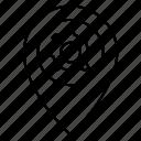 pin, setting, location, map