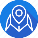 gps, location, map, navigation, pin, pointer icon