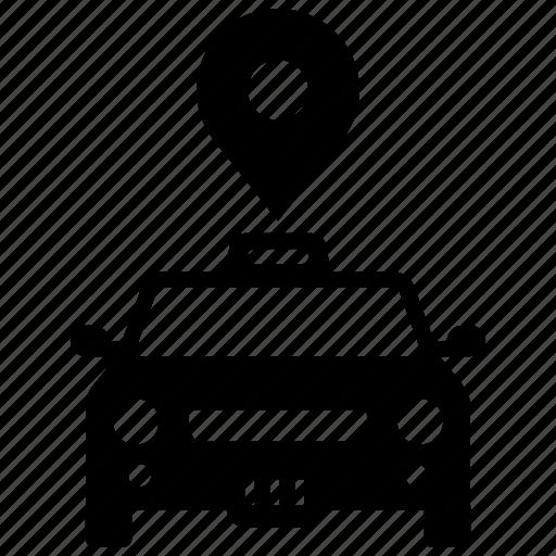 location, pointer, taxi icon