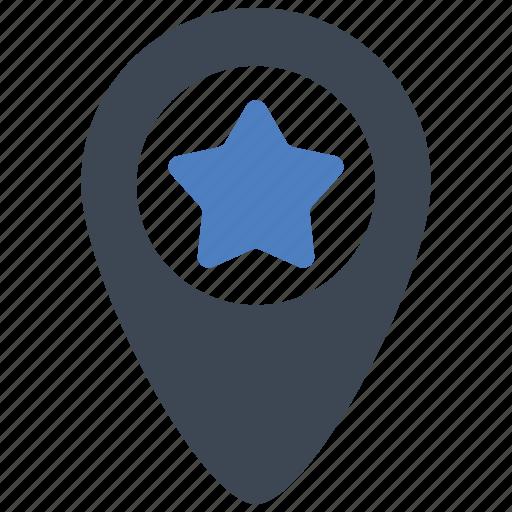 favorite, location, marker icon