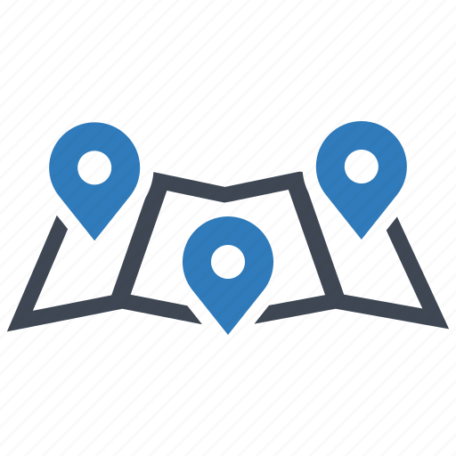 location, map, pointer icon