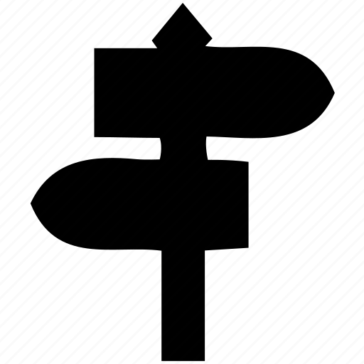 direction, left, right, sign, signpost icon