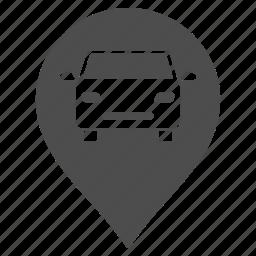 auto repair, car service, garage pointer, map marker, mechanic, warehouse, workshop icon