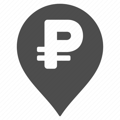 bank pointer, banking, currency, map marker, payment, pin location, russian rouble icon