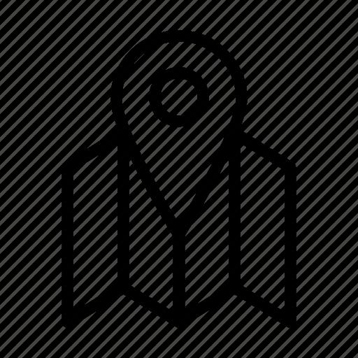 location, map, navigation, satellite, search, street icon