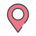 dirrection, gps, location, map, marker, navigation, road icon