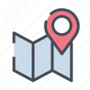 dirrection, gps, location, map, navigation, road icon
