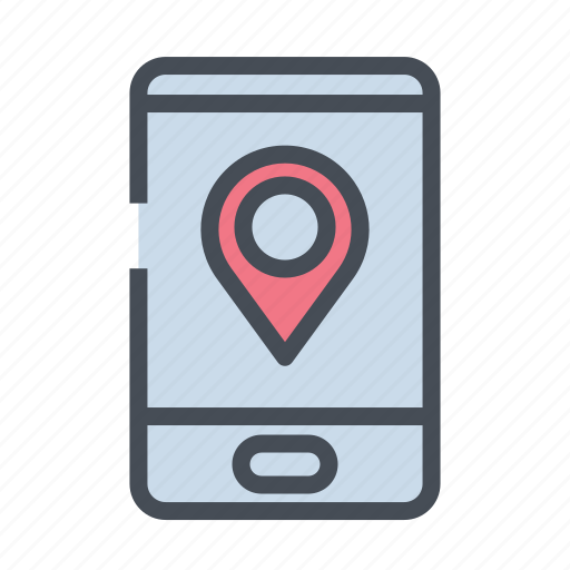 dirrection, gps, location, map, navigation, phone, road icon