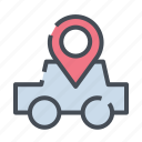 car, dirrection, gps, location, map, navigation, road icon