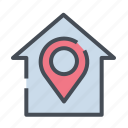 dirrection, gps, home, location, map, navigation, road icon