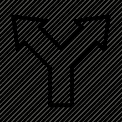 arrow, dirrection, gps, location, map, navigation, road icon