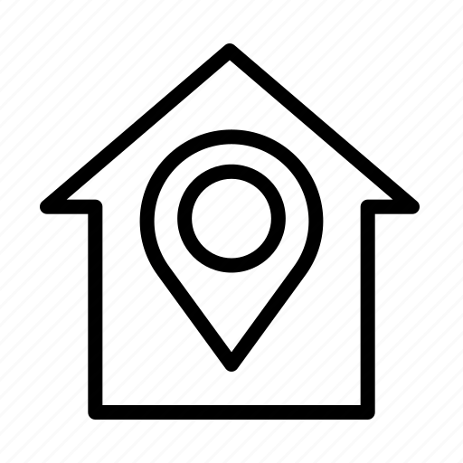 home, location, marker, pin icon