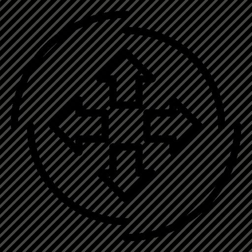 arrows, gps, location, map, navigation, navigation16, pointer icon