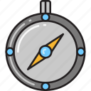 compass, direction, location, navigate, navigation icon