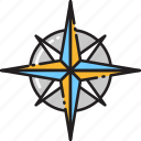 compass, direction, location, navigate, navigation, sign, symbolism icon