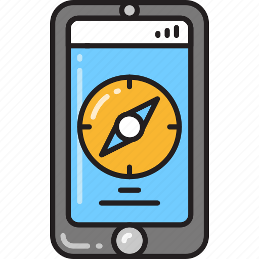 app, application, compass, direction, navigation, smartphone icon