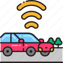car, connected, connection, internet, network, vehicle, wifi icon