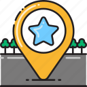 badge, bookmark, destination, favorite, favourite, medal, star icon