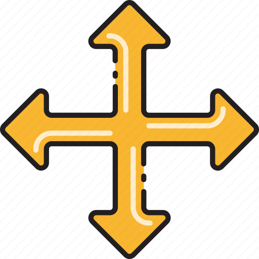 Four, intersection, way, direction, navigation, road, sign icon - Download on Iconfinder